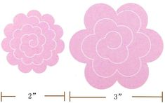 felt rose templates