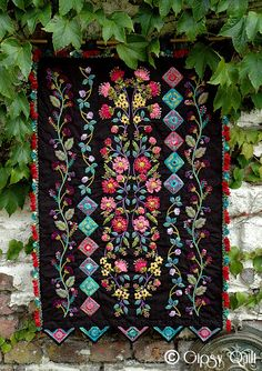 Black background embroidery (c) A Gypsy Quilt.