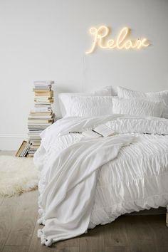 Monochromatic vibes + The Emily & Meritt Relax Neon Light!