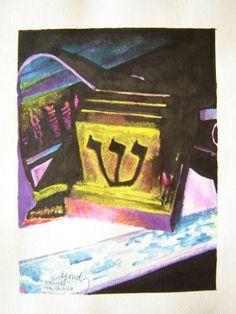 """Saatchi Art Artist Yehouda Morin - YOUD; Painting, """"Tefilines"""" #art"""