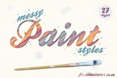 Messy Paint Styles by The Artifex Forge on @creativemarket