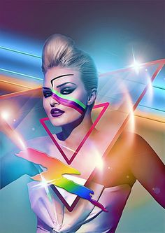 Retro-futurism, 80s style, by Hipnosky
