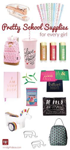 School supplies for teens. highschool or college. Cute and stylish. Must-haves for new school year!