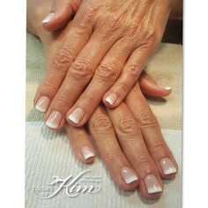 Flawless French tip gel polish manicure. Created by Maria T colorsbykim.com