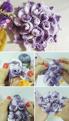 Spring Flower Free Crochet Pattern Video