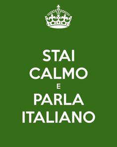 Stai calmo e parla ITALIANO <3