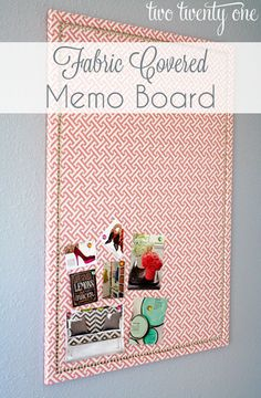 How to make your cork bulletin board pretty