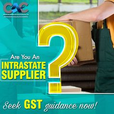 The main objective of GST is to simplify the compliance processes for interstate sales of goods. Do you deal in interstate supply or sale of goods too? Know more about how GST could impact your business.  #CAC #business #gst #tax #advisor #consultant #expert #accountant