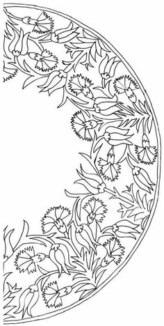 Variety of flower designs | Interesting Drawings, Delft Tiles, Turkish Tiles, Stencil Patterns, Embroidery Patterns, Border Pattern, Art Icon, Mehndi, Kaftan