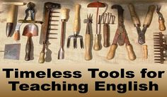 Timeless tools for teaching English. Some important materials and rarely offered.http://bit.ly/2dtvo5j