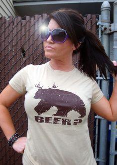 Bear plus Deer equals Beer TShirt Funny Hunting by BigtimeTeez
