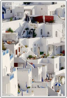 Santorini, Greece.  White logo houses in Greece = one of my MUST VISIT destinations before death.