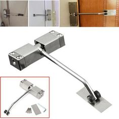 Stainless Steel Adjustable Surface Mounted Automatic Spring Door Closer For Home Fire Rated Doors, Cheap Doors, Spring Door, Room Doors, Closed Doors, Mini, Household, Door Closer, Home And Garden