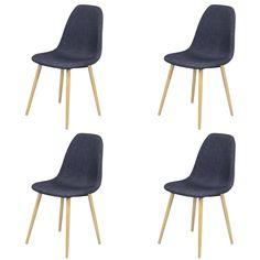 Set van 4 stoelen Jacob - indigo Ook verkrijgbaar in het grijs #scandinavisch