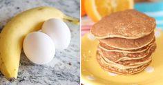 recept na palačinky a lívance z banánů a vajec Coconut Flour, Almond Flour, Nut Free, Dairy Free, Grain Free, 2 Ingredient Pancakes, Crepe Cake, Banana Pancakes, 2 Ingredients