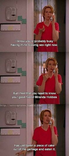 And even though you may seem like you've got everything sorted, you sometimes mess up. | 18 Signs You Actually Might Be Miranda Hobbes
