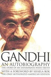 "The Story of My Experiments with Truth is the autobiography of Mohandas Karamchand Gandhi, covering his life from early childhood through to 1920. It was written in weekly installments and published in his journal Navjivan from 1925 to 1929. Its English translation also appeared in installments in his other journal Young India. In 1999, the book was designated as one of the ""100 Best Spiritual Books of the 20th Century"" by a committee of global spiritual and religious authorities."