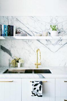 marble white kitchen