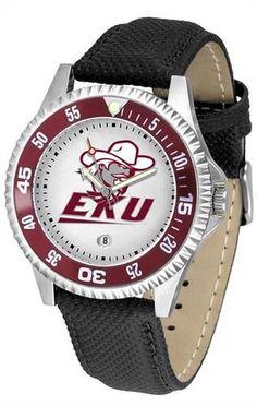 Eastern Kentucky University Men's Leather Sports Watch