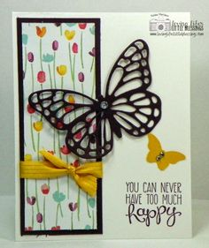 Stampin' Up Butterflies Thinlits - Blackberry Bliss Butterfly.  Katina Martinez - www.lovinglifeslittleblessings.com