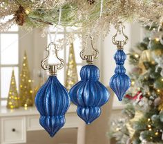 Set of 3 Swinging from the Chandelier Ornaments
