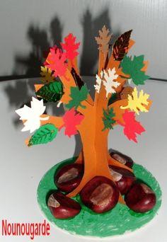 L'arbre d'automne et ses marrons
