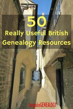 50 Really Useful British Genealogy Resources | British Genealogy Research | Family History | Bespoke Genealogy #genealogy