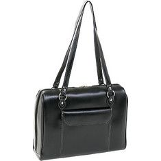 Women's McKlein Glenview - Black with FREE Shipping & Exchanges. This laptop case is made from Italian leather and features a contoured top