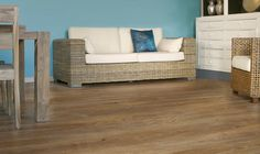 Magnitude is a luxurious laminate floor. The matt-shiny laminate looks and feels like a real oak plank floor. Dining Furniture, Dining Bench, Outdoor Furniture, Oak Laminate Flooring, Outdoor Sofa, Outdoor Decor, Colorful Furniture, Decoration, Plank