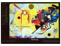 Clementoni: Kandinsky - Yellow-Red-Blue (1000) Puzzle Art, Kandinsky, Red And Blue, Museum, Yellow, Gold