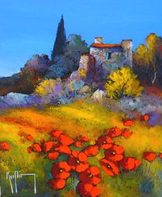 Afficher l'image d'origine French Artists, Painting Techniques, Tuscany, Les Oeuvres, France, Fine Art, Acrylic Paintings, Contemporary, Floral