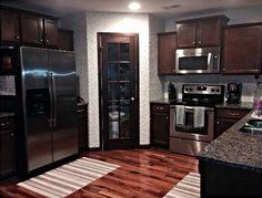 Kitchen redo corner pantry.