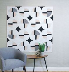 Modern Fans Digital Quilt Pattern, Designed by Suzy Williams, brings energy in its finished product with curved piecing and gradation in color value.
