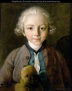 MERCIER, Philip German-born French (ca.1689-1760)_Portrait Of A Young Boy With A Dog