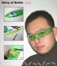 You could totally cosplay Saiki from Saiki Kusuo no Psi-Nan Cosplay Tutorial, Cosplay Diy, Lifehacks, Futuristic Costume, Ideias Diy, Kids Corner, Plastic Bottles, Plastic Bags, Funny Pictures