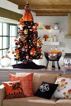 If you're really into Halloween, you should consult Pier 1's guide to Halloween entertaining. Whether you're preparing a warm welcome for trick-or-treaters, hosting a spooky soiree for grown-ups or celebrating the Day of the Dead, we can get you going in the fright direction.
