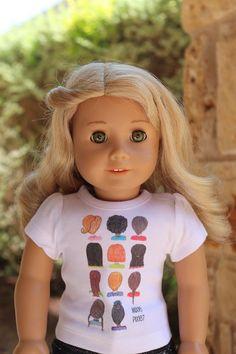 AMERICAN GIRL Big Screen KIT Movie DOLL T-Shirt TEE  AG