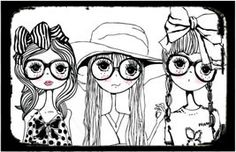 Dilly Foxtrot Investigates: Quirky Girls illustration