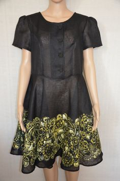 Summer linen dress.