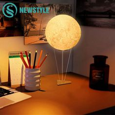 Lights & Lighting Led Light 3d Saturn Design 110v Warm White Ornament Study Table Living Room Atmosphere Lamp Glow Desktop Home Modeling Lamp