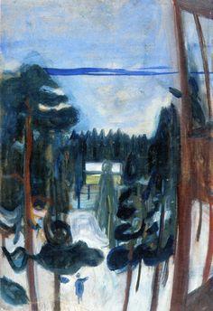 Edvard Munch   NorwegianExpressionist, 1863- 1944     Edvard Munch, New Snow, oil on canvas, 1900-01, Munch Museum, Oslo   Edvard Munch, ...