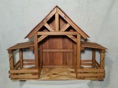 Reclaimed Wood Nativity Stable Creche Handcrafted Manger Barn with side pens Nativity Creche, Nativity Stable, Nativity Crafts, Wood Crafts, Outdoor Nativity, Christmas Manger, Christmas Wood, Christmas Crafts, Christmas 2017