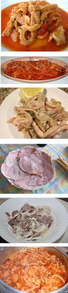 Vari tipi di ricette di trippa. #Wonderfooditaly #FrancescoBruno