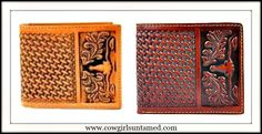 GREAT GIFT for your cowboy!! Embossed Steer Mens Wallet #wallet #,ems #cowboy #western #leather #steer #basketweave #fashion #boutique #cowgirl #rodeo #NFR #onlineshopping #holidayshopping #horse #ranch