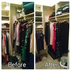 I had so much fun working in my client's closet! She has a gorgeous setup to display her beautiful wardrobe, which she thinned slightly today. The guiding categories were type, season, color, and size. #organized #iwantthiscloset #ilovemyjob