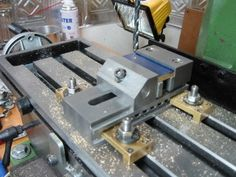 Will be building similar vise clamps. The brass construction will be easier than steel and protect the vise and milling table from nicks.