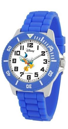 "Ewatchfactory Men's 42201_1D3367 Disney Donald Duck ""Fiesta"" Watch eWatchFactory. $21.50. Colored rubber strap. Water-resistant to 99 feet (30 M). Unidirectional rotating bezel. Features Disney character on the dial. Men's Disney ""Fiesta"" watch"