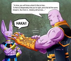 Beerus and Thanos | Dragon Ball | Know Your Meme