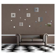 Dekoračné nalepovacie zrkadlá v tvare štvorcov Home Decor, Decoration Home, Room Decor, Home Interior Design, Home Decoration, Interior Design