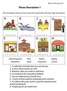 Places Descriptions 1 worksheets